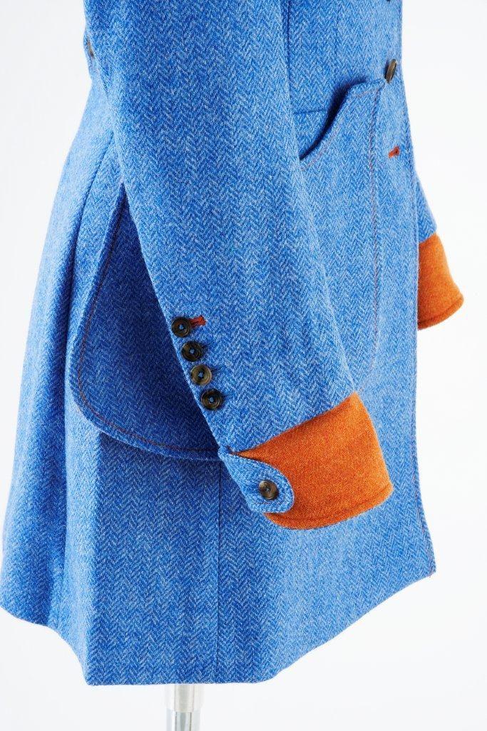 Sligo Coat – Blue Herringbone
