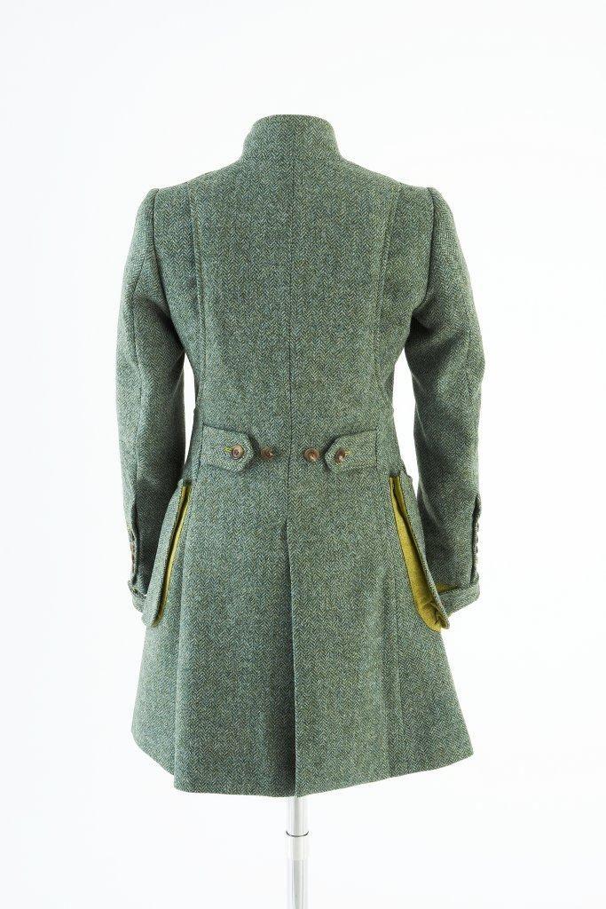 Sligo Coat – Green Herringbone