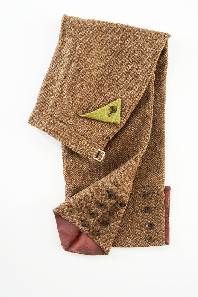 Ladies Trousers – Brown Herringbone