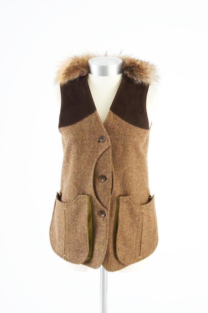Ladies Gilet Vest in Brown Herringbone – Gold Winner of Best Ladies Shooting Garment UK Shooting Awards 2019