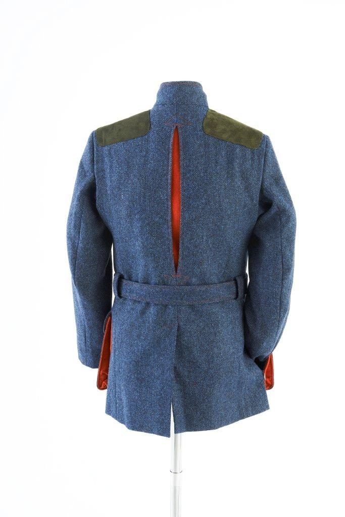 Norfolk Jacket – Denim Blue Herringbone