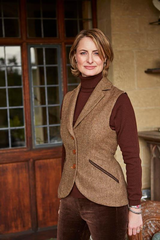 Foxford Gilet Waistcoat – Chartreuse Tweed