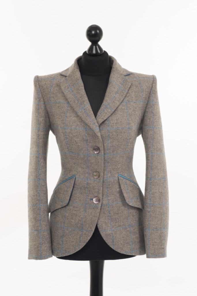 Va Va Voom Jacket – Merlin Grey/Blue Overcheck