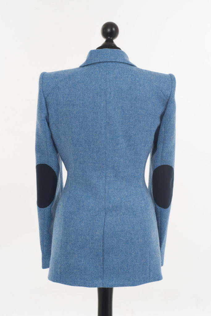 Va Va Voom Jacket – Light Blue Herringbone