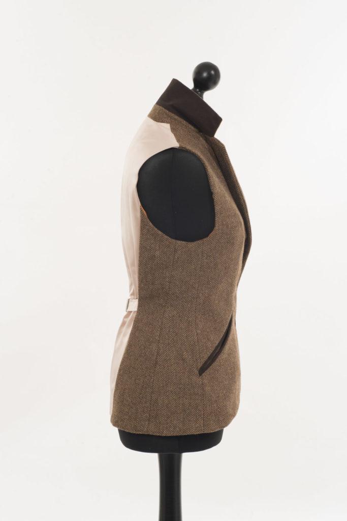 Foxford Gilet Waistcoat – Brown Herringbone