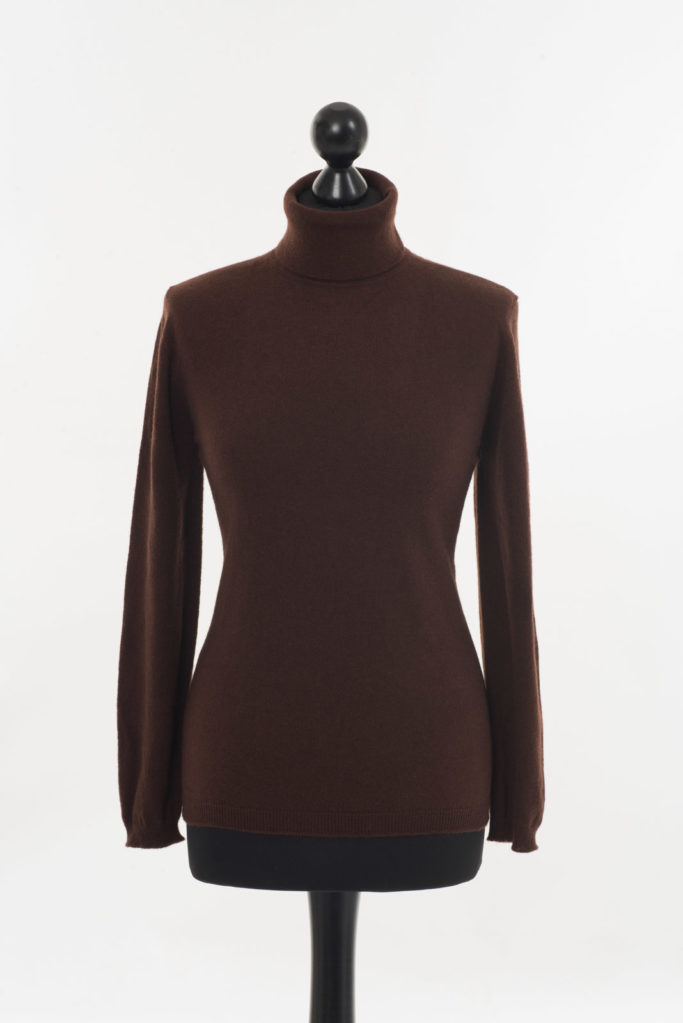 Ladies Brown Polo Neck – Cocoa Brown