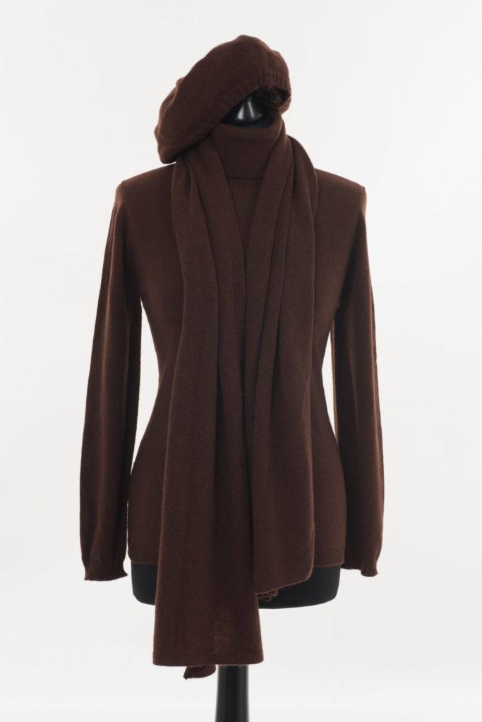 Ladies Cashmere Polo Neck – Cocoa