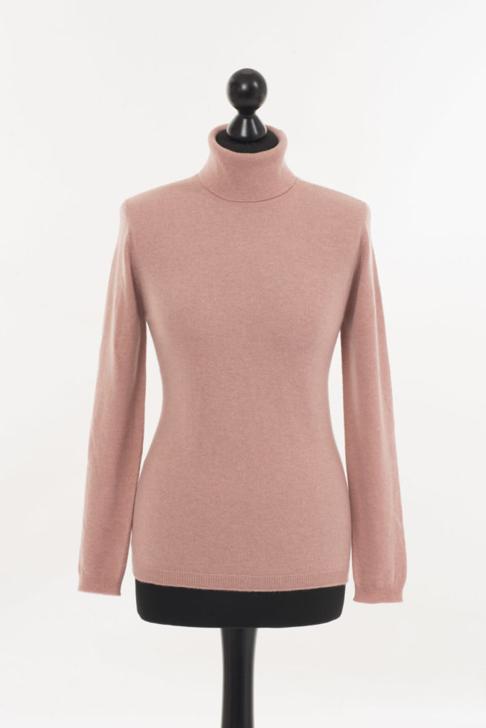 Ladies Pink Polo Neck – Champagne Pink