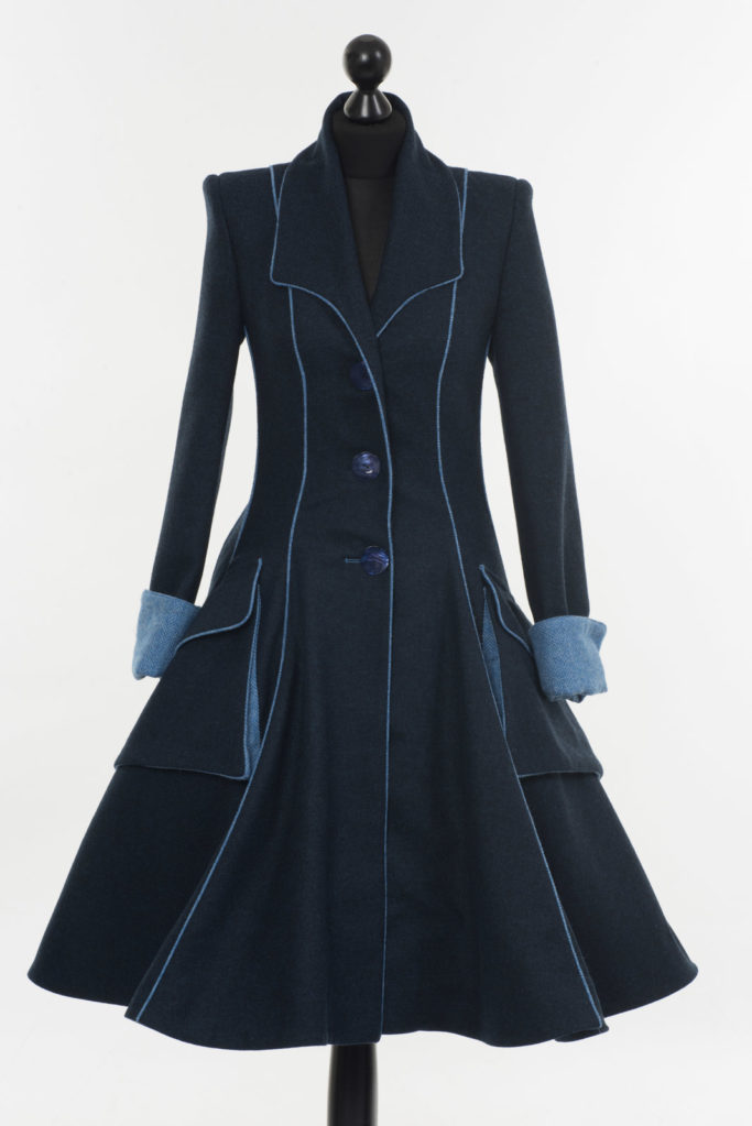 Lannagh Coat – Indigo/Blue