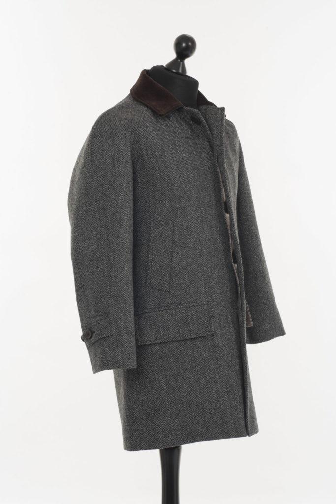 Scotia Coat – Grey Herringbone