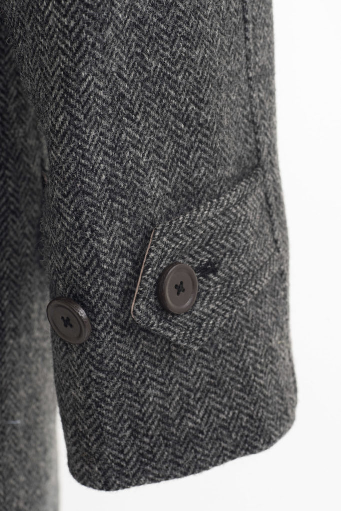 Scotia Coat – Grey Herringbone