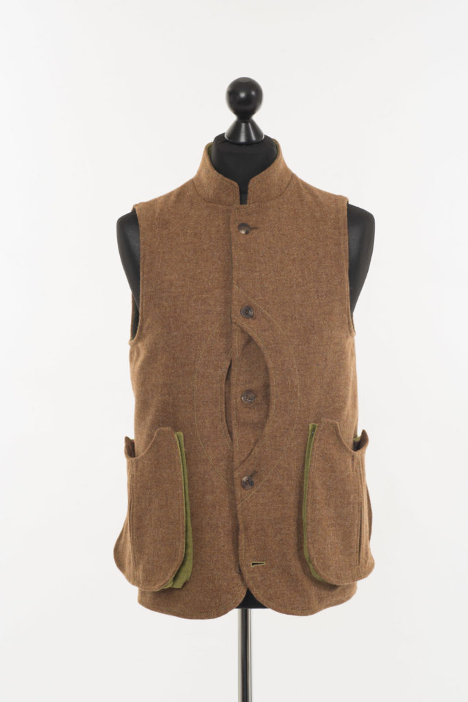 Mens Gilet Ginger Brown Twill