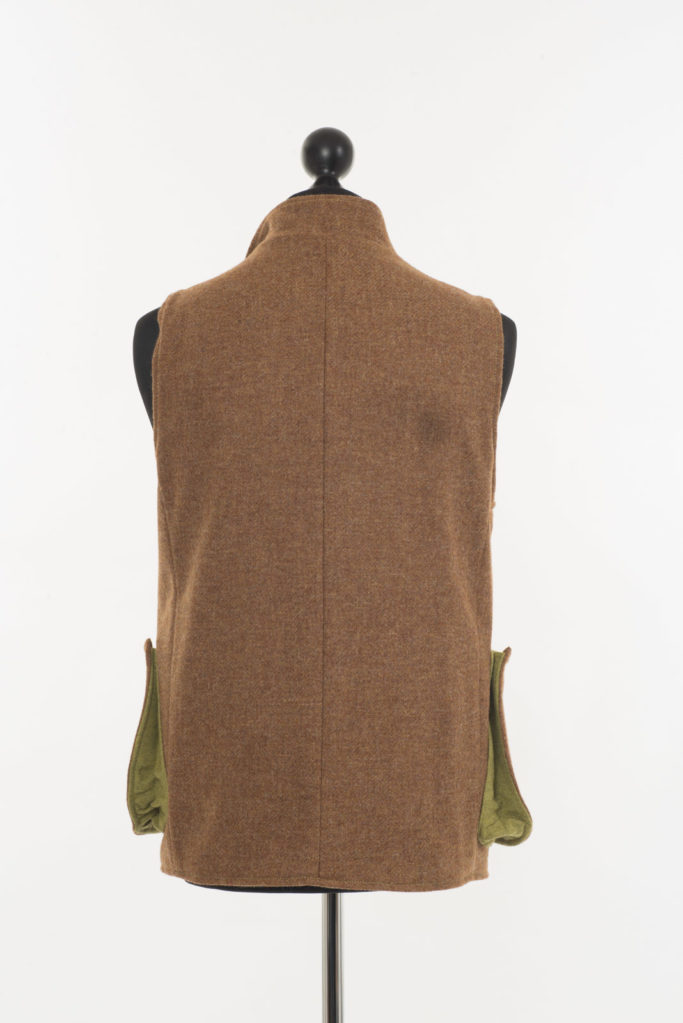 Mens Gilet – Ginger Brown Twill