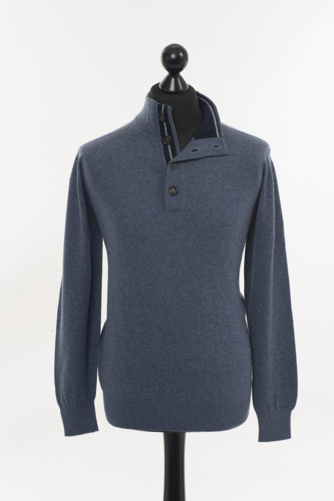 Men's blue Cashmere Sweater / Jumper – Denim Blue