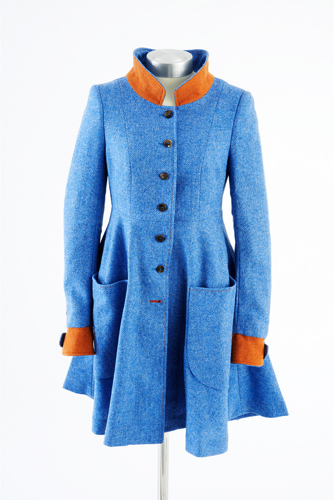 Castlebar Coat – Blue Herringbone
