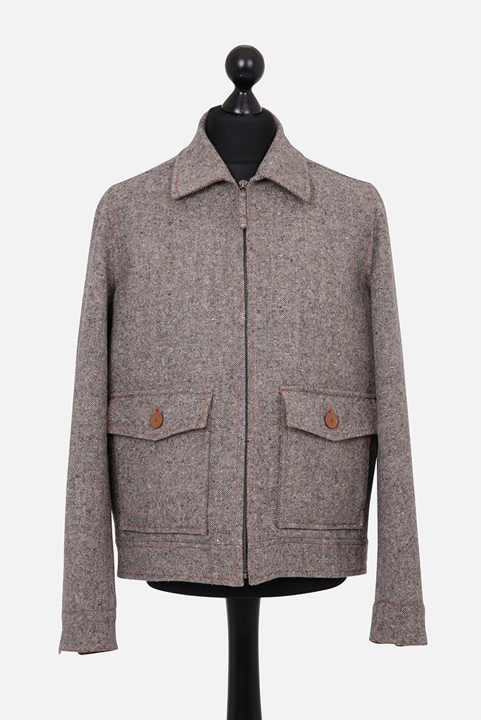 Fauconberg Bomber Jacket – Bracken Donegal Tweed