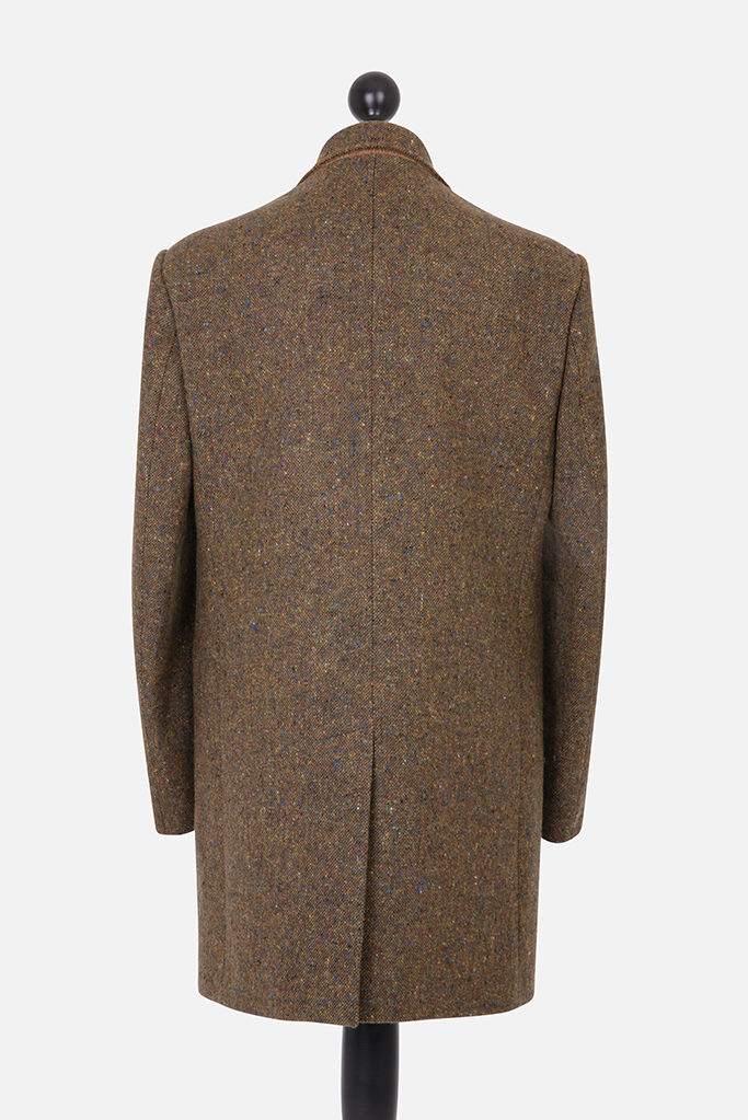 Turberville Topcoat – Brown Donegal Tweed