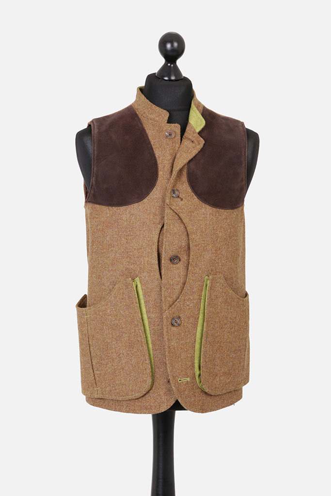 Mens Gilet Vest – Brown