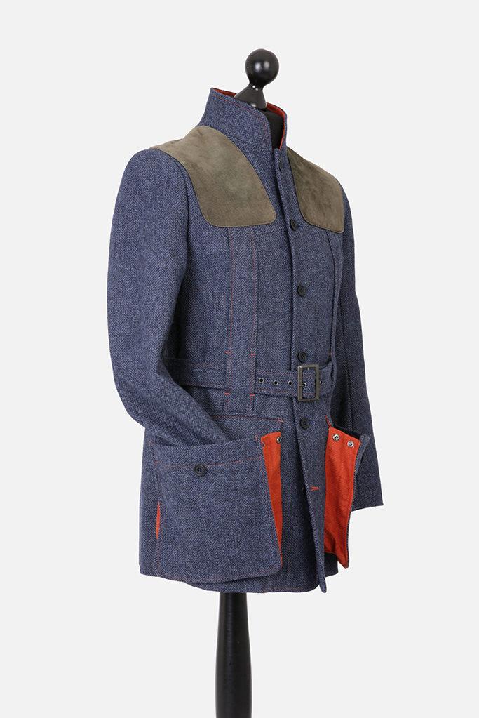Norfolk Jacket – Denim Blue Herringbone