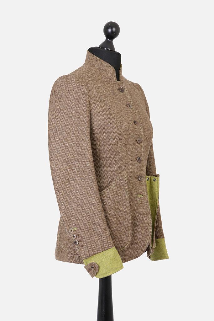 Sligo Jacket – Brown Herringbone