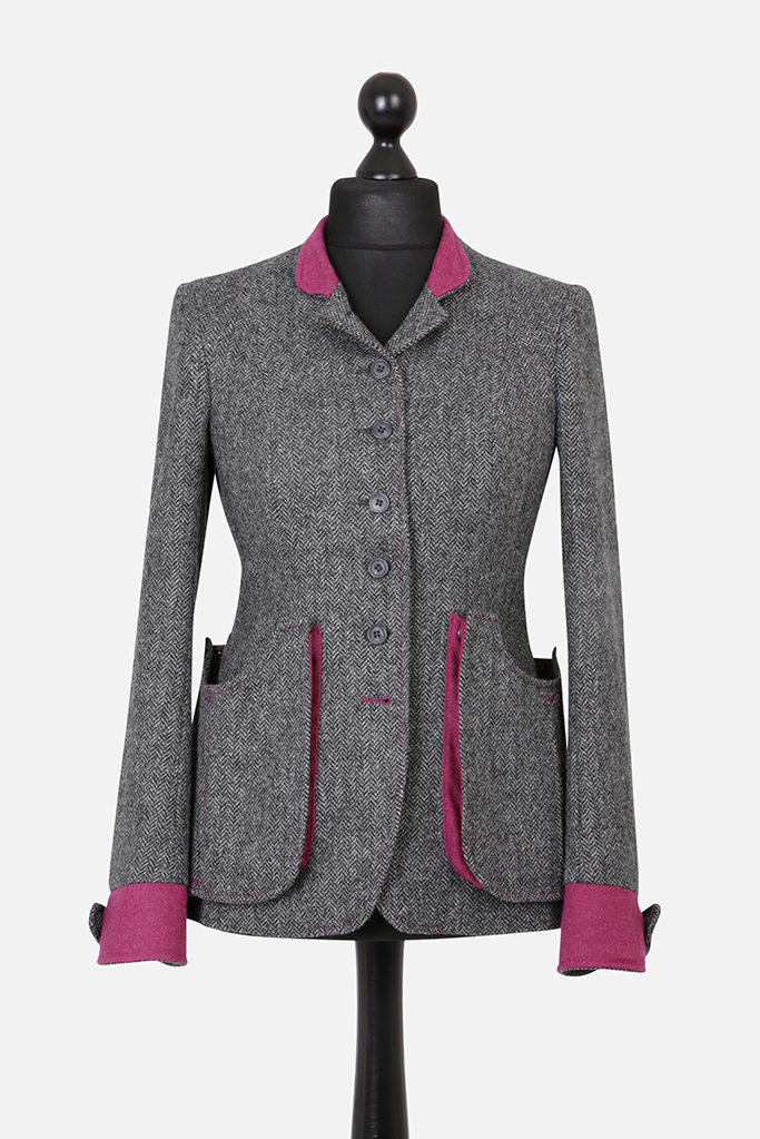 Sligo Jacket – Grey Herringbone