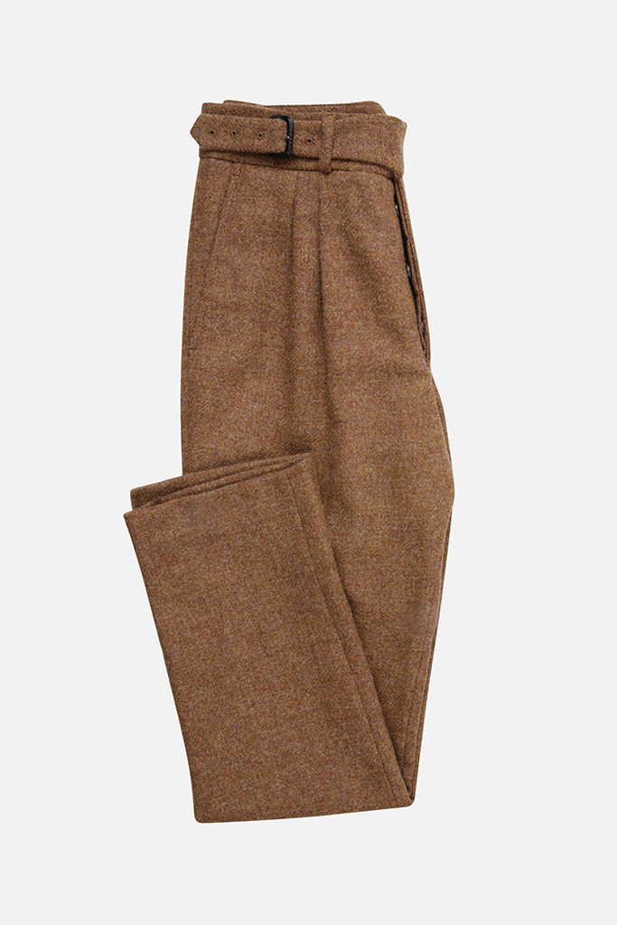 The Lucan Gurkha Trouser – Ginger Brown Tweed
