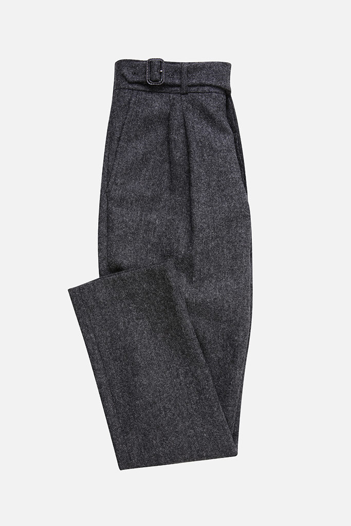 The Lucan Gurkha Trouser – Charcoal Donegal Tweed