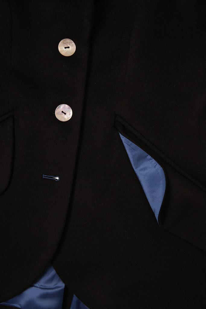 Va Va Voom Jacket – Black Cashmere Melton