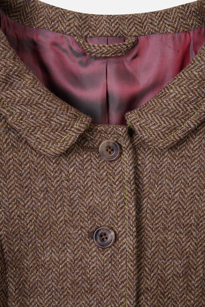 Castlebar Coat – Brown Herringbone