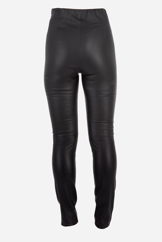 Rouser Trouser – Black Bonded Stretch Leather