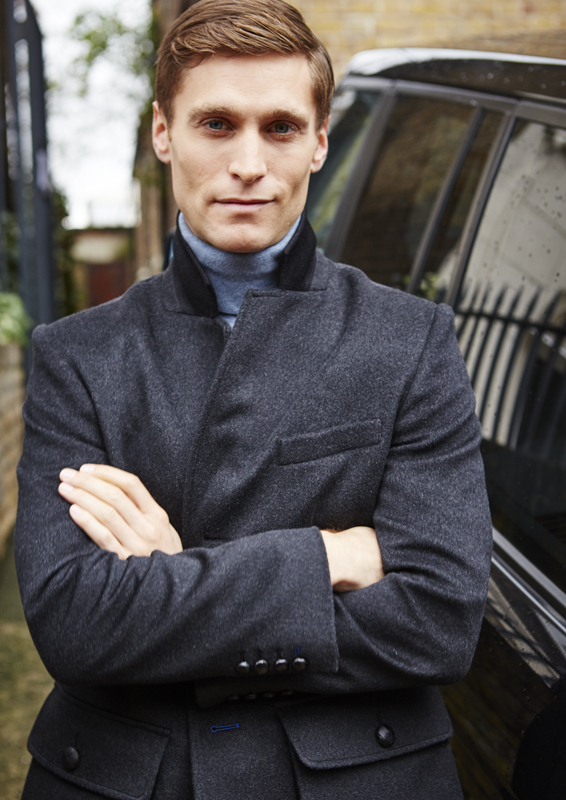 Sarsfield Sports Jacket – Charcoal Cashmere Melton