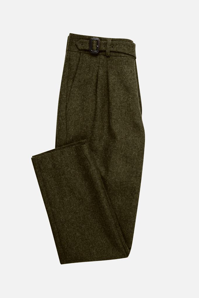 The Lucan Gurkha Trouser – Loden Donegal Tweed