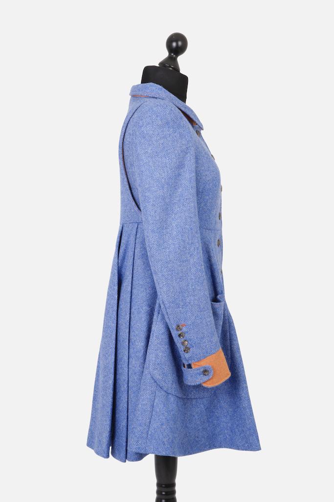 Castlebar Coat – Blue Herringbone