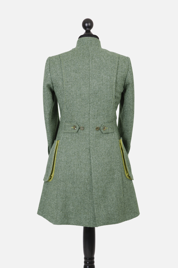 Sligo Coat – Green Herringbone
