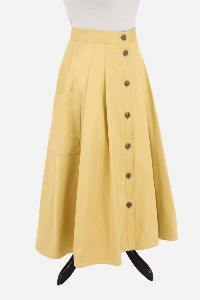 Ladies Safari Skirt – Sandstone Cotton Twill