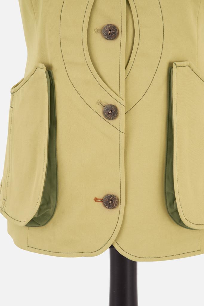 Ladies Safari Gilet – Sandstone Cotton Twill