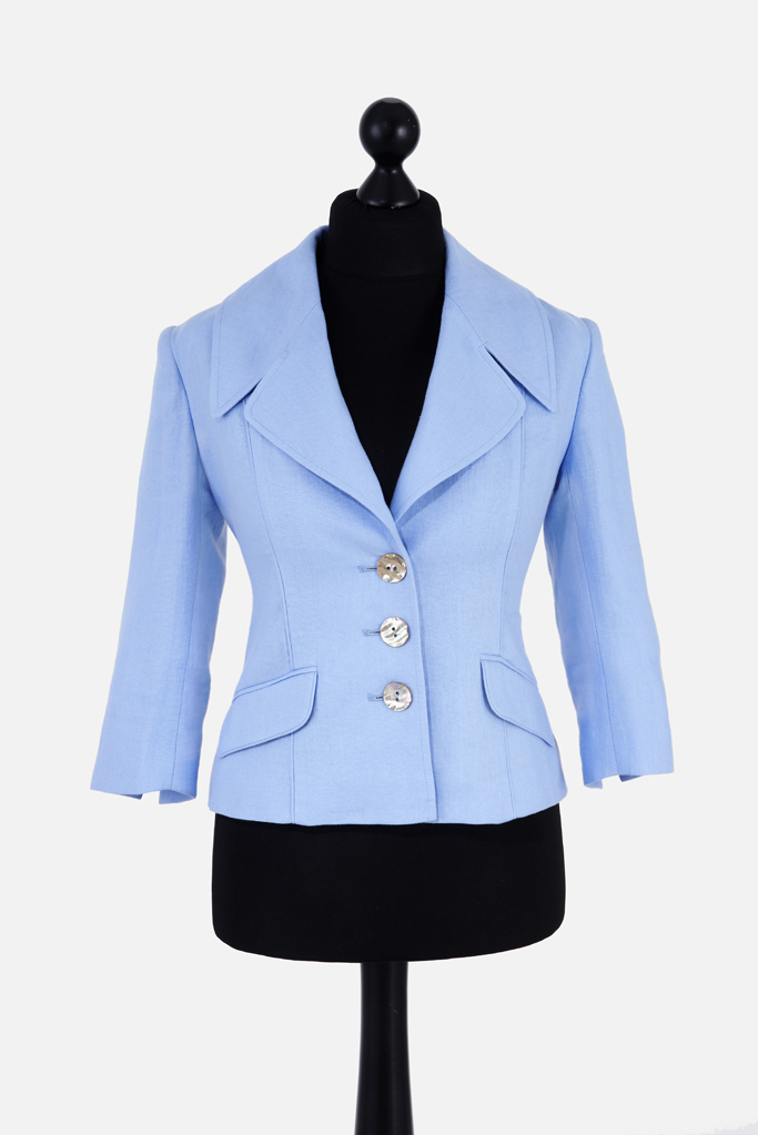Ladies Balla Jacket – Cool Blue Linen