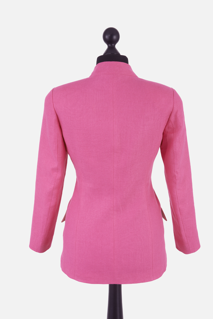 Ladies Carra Jacket – Fuchsia Irish Linen