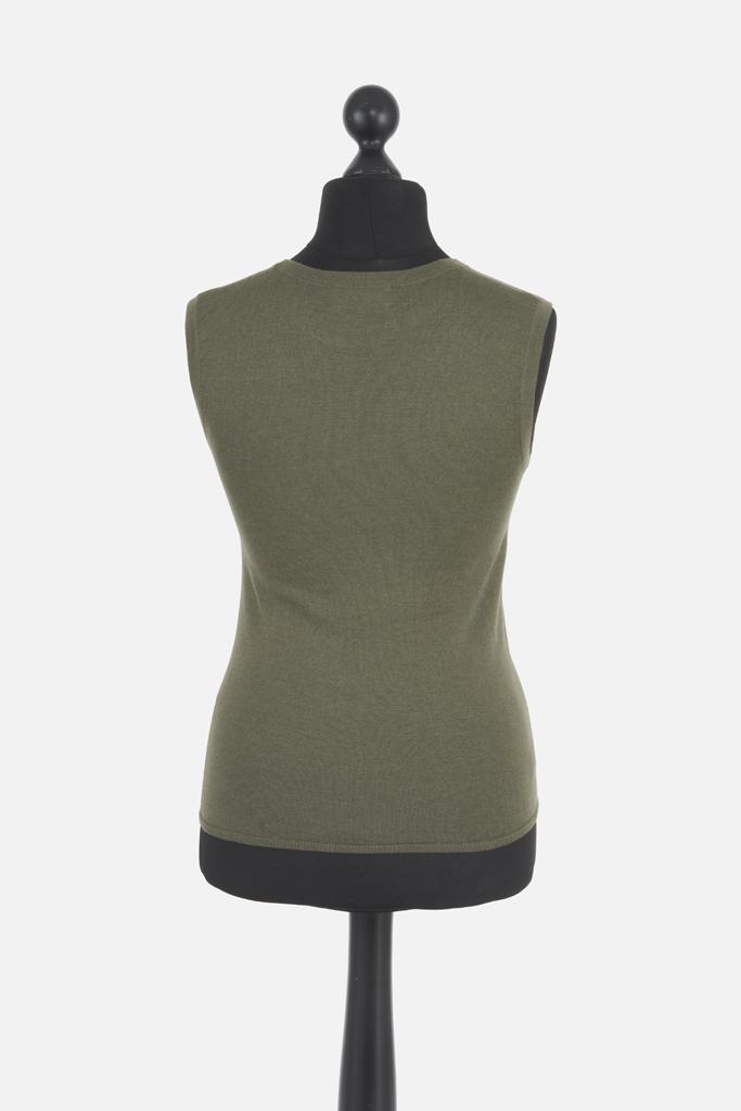 Ladies Cashsilk Tank – Lovat Cashmere/Silk