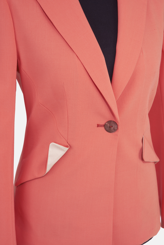 Ladies Foxglove Jacket – Coral Sportswool