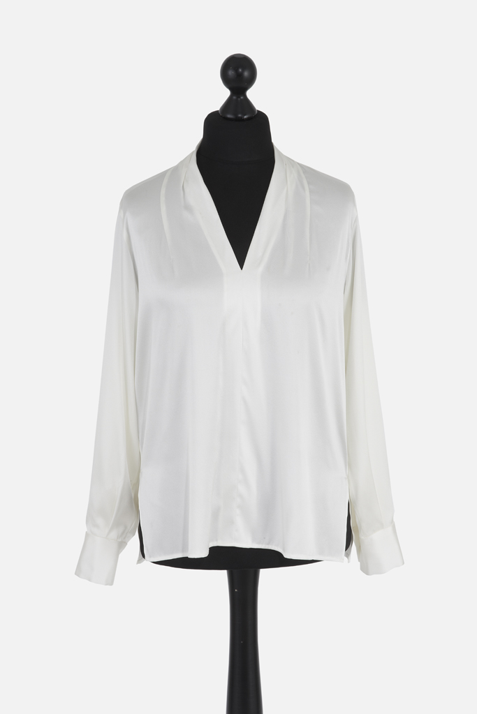 Ladies Tunic Shirt – White Silk