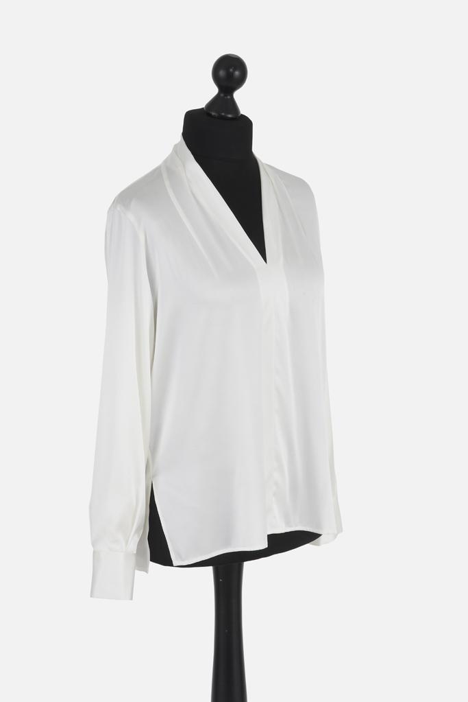 Ladies Tunic Shirt – White Silk