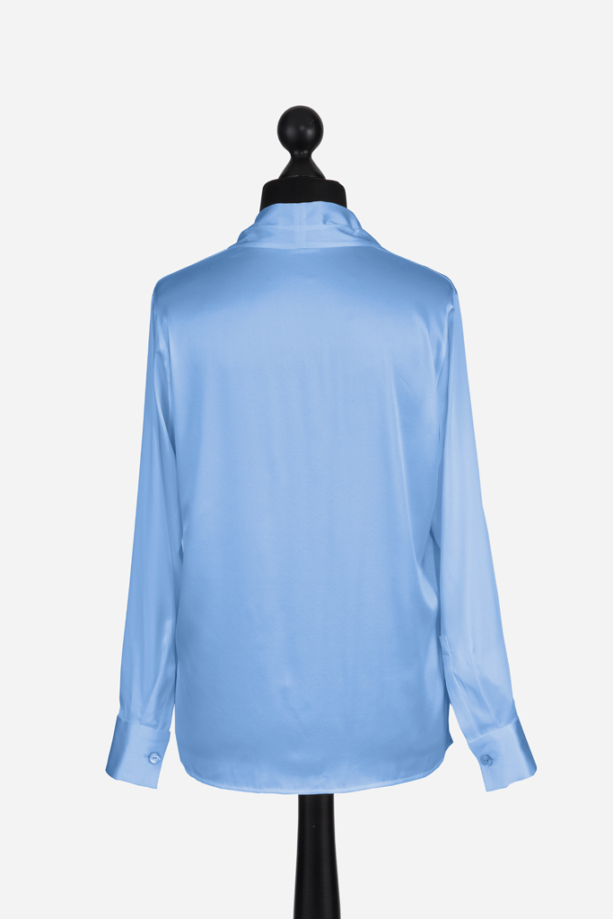 Ladies Tunic Shirt – Cool Blue Silk