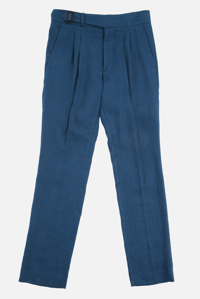 The Lucan Gurkha Trouser – Celtic Blue Irish Linen