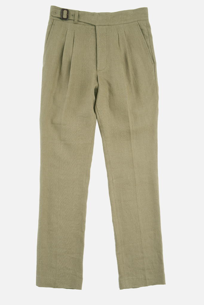 The Lucan Gurkha Trouser – Coffee Irish Linen