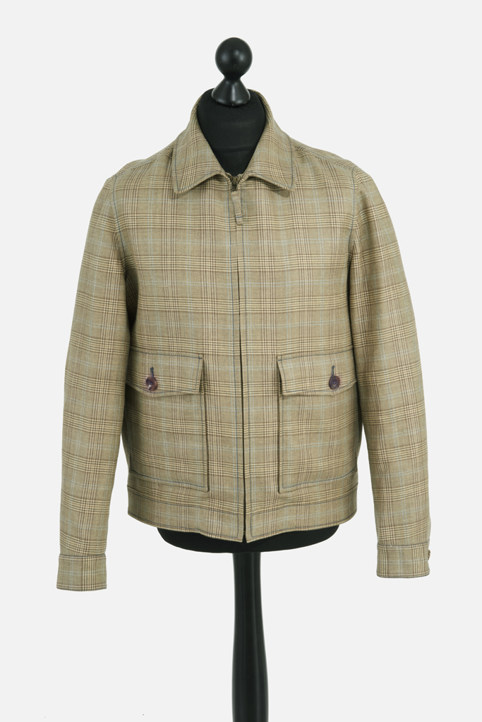 Fauconberg Jacket – Tan Wool-Linen Check