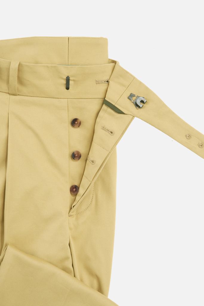 The Lucan Gurkha Trouser – Sandstone Cotton Twill