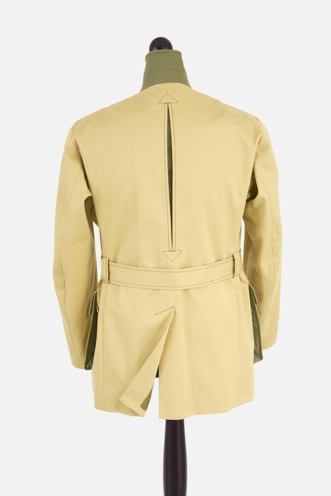 Mens Safari Norfolk Jacket – Sandstone Cotton Twill