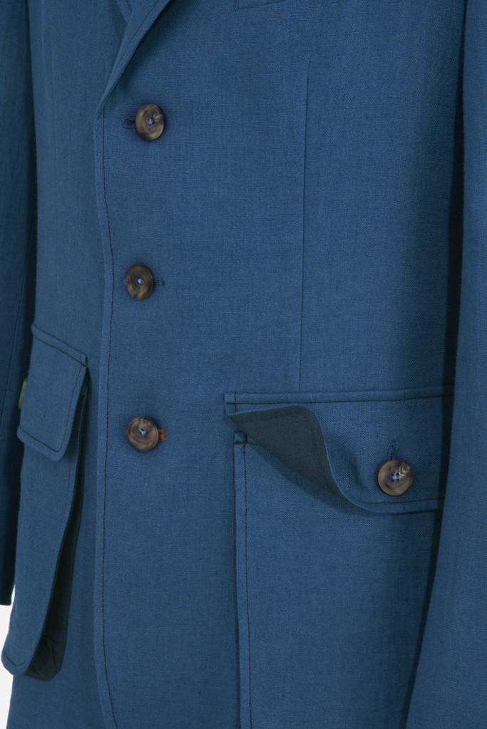 Sarsfield Jacket – Celtic-Blue  Irish Linen