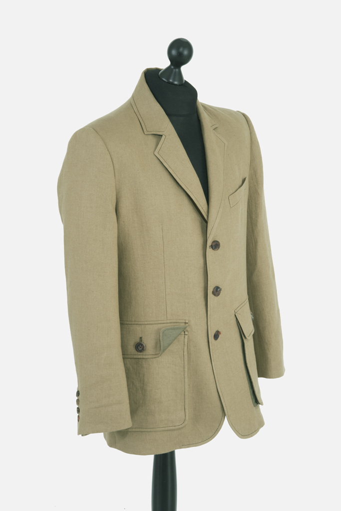 Sarsfield Jacket – Coffee Irish Linen
